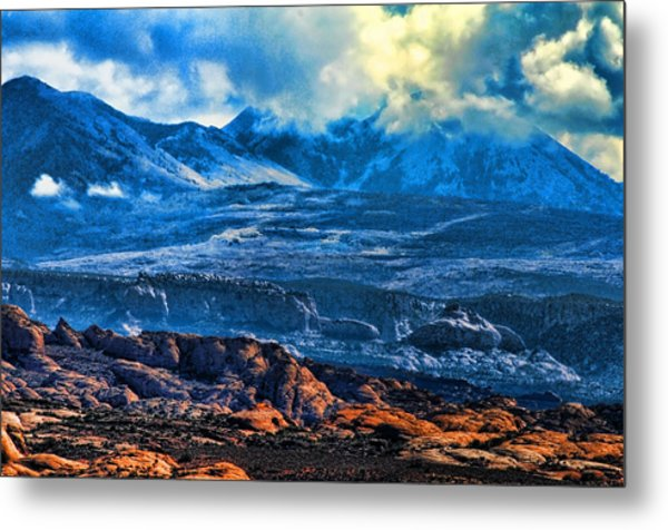 La Sal Mountains Arches National Park Metal Print