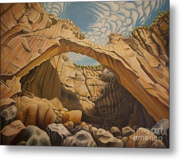 La Vantana Natural Arch Metal Print