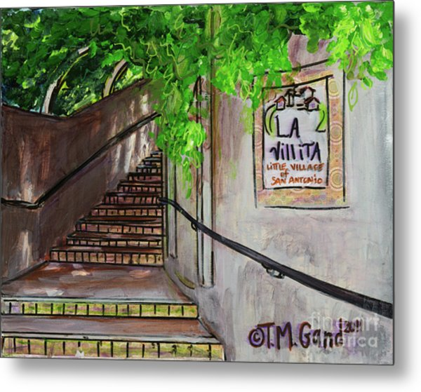 Metal Print featuring the painting La Villita by TM Gand