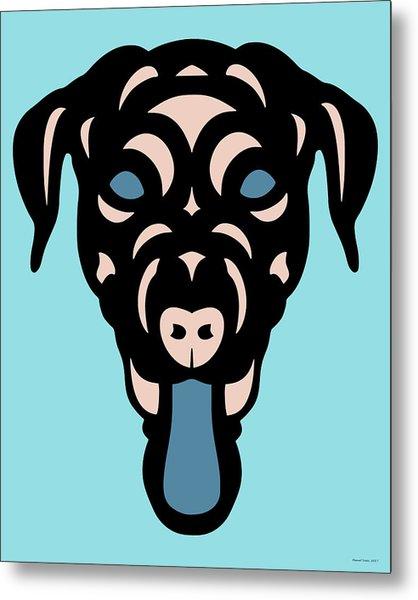 Labrador Dorianna - Dog Design - Island Paradise, Pale Dogwood,  Niagara Blue Metal Print