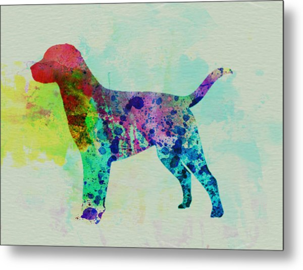 Labrador Retriever Watercolor Metal Print by Naxart Studio