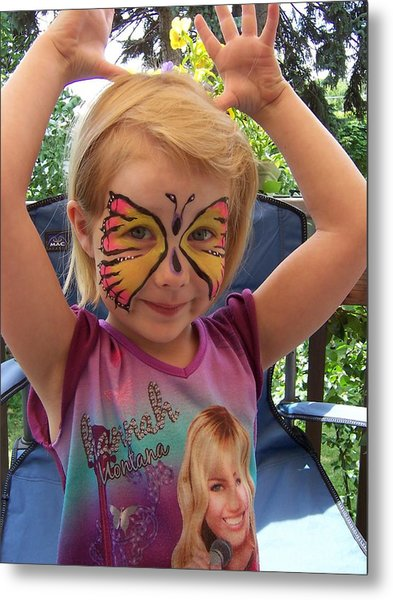 Lacey The Butterfly Metal Print