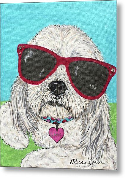 Laci With Shades Metal Print