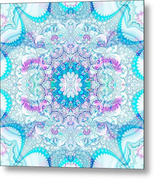 Metal Print featuring the digital art Lacy Mandala by Bee-Bee Deigner