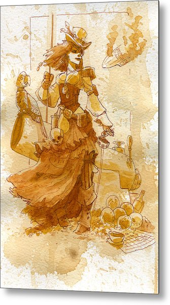 Lady Bonney Metal Print by Brian Kesinger