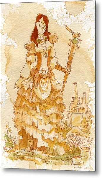 Lady Codex Metal Print