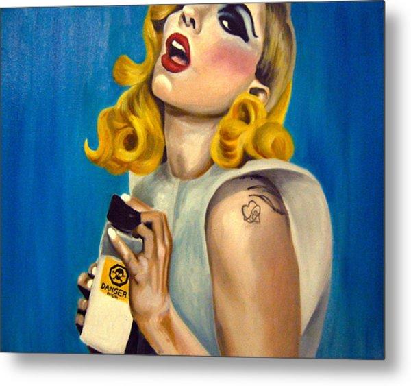 Lady Gaga Commission Metal Print by Emily Jones