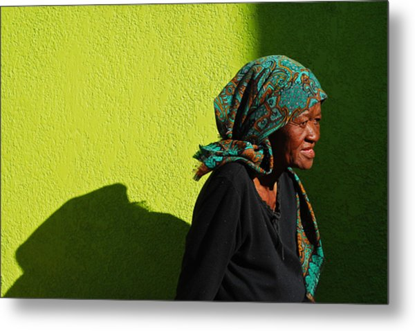 Lady In Green Metal Print