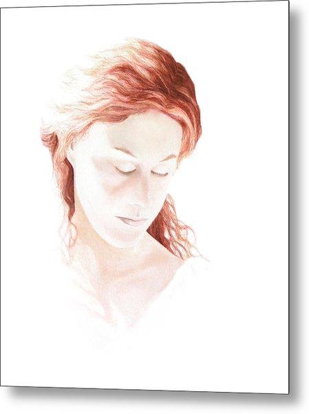 Lady In Light Metal Print