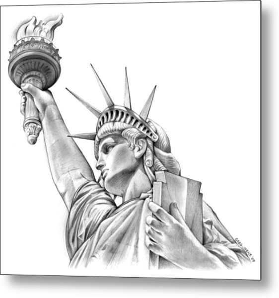 Lady Liberty Metal Print