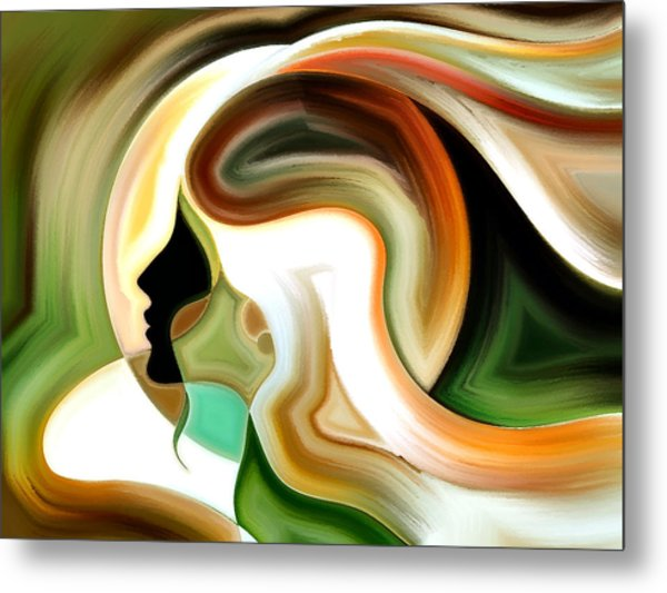 Lady Of Color Metal Print
