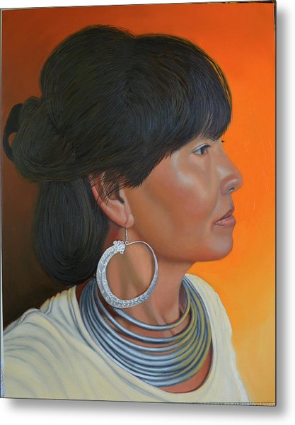 Lady Of Sapa Metal Print