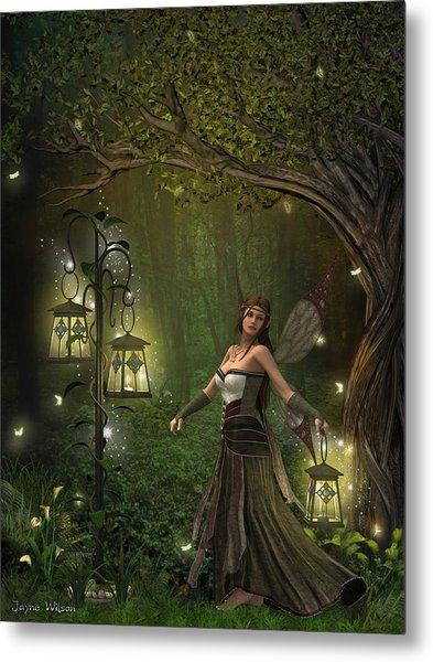 Lady Of The Lanterns Metal Print