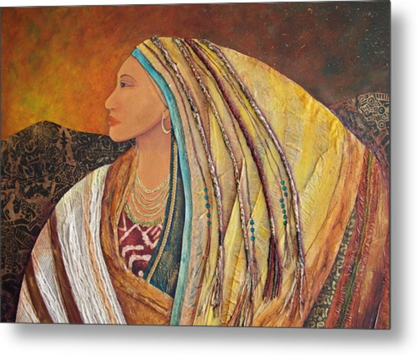 Lady Of The Mountains Metal Print by Candy Mayer