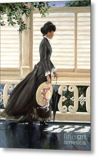 Lady On A Porch Metal Print by Michael Swanson
