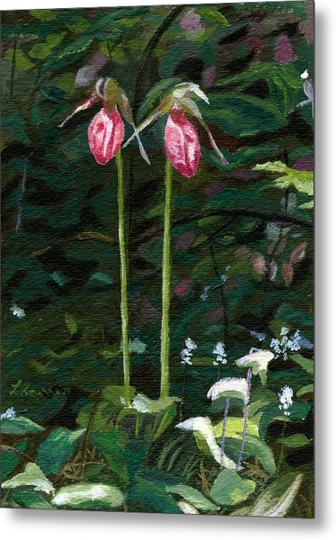 Lady Slipper Metal Print