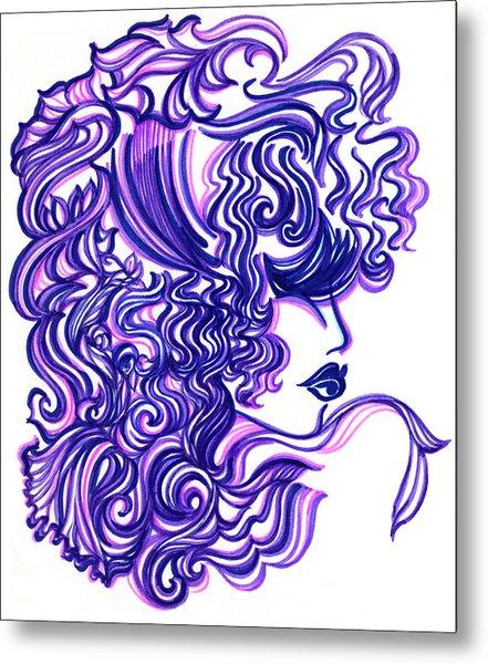 Lady Violet Metal Print by Judith Herbert