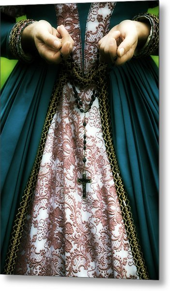 Lady With Rosary Metal Print
