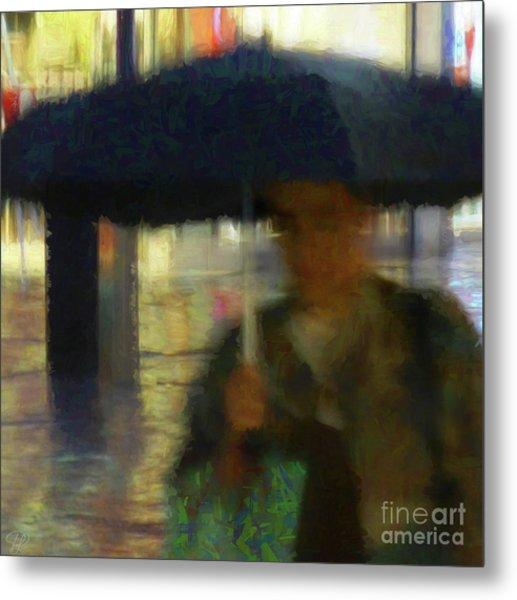 Lady With Umbrella Metal Print
