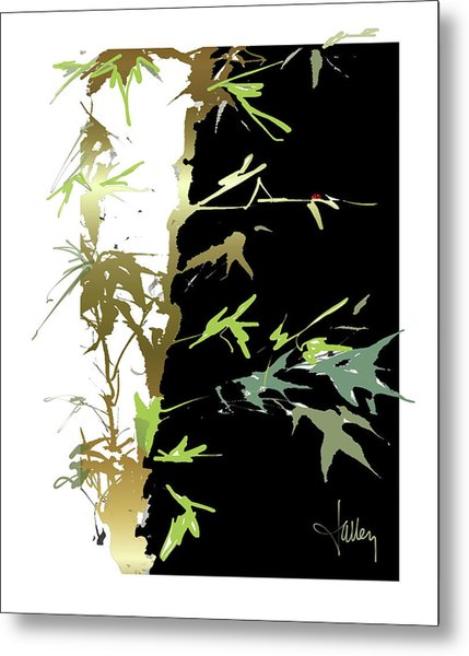 Metal Print featuring the mixed media Ladybug by Larry Talley