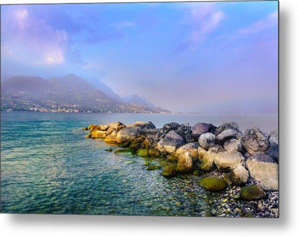 Lago Di Garda. Stones Metal Print
