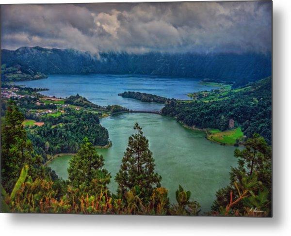 Lagoa Verde E Lagoa Azul Metal Print