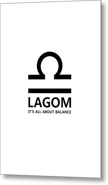 Lagom - Balance Metal Print