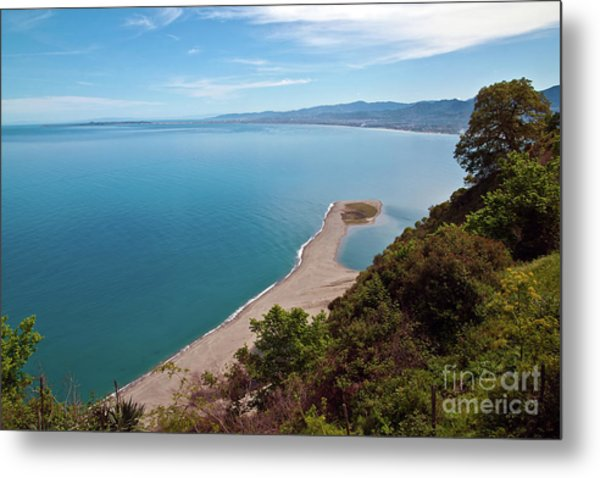 Lagoon Of Tindari On The Isle Of Sicily  Metal Print