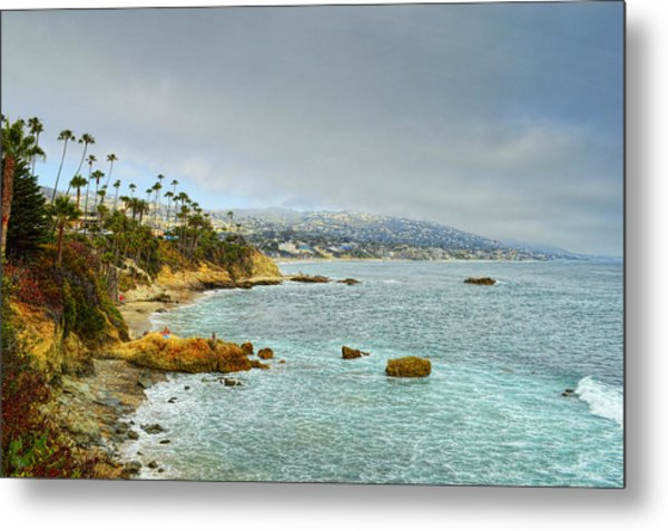 Laguna Beach Coastline Metal Print