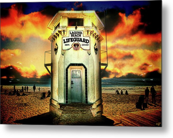 Laguna Beach Lifeguard Hq Metal Print
