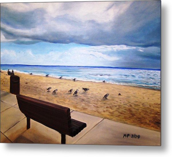 Laguna Beach On A Stormy Day Metal Print by Madeleine Prochazka
