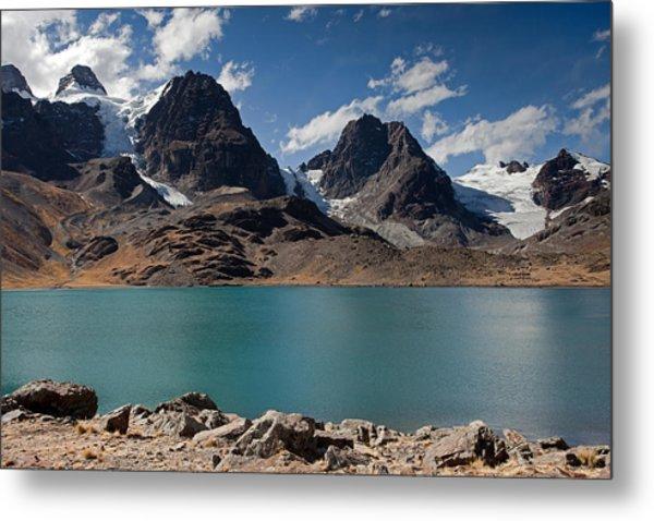 Laguna Chiar Khota In Condoriri Mountains Metal Print