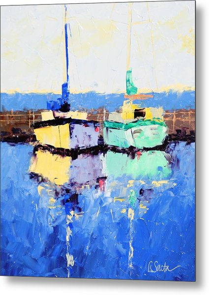 Lahaina Boats Metal Print by Leslie Saeta