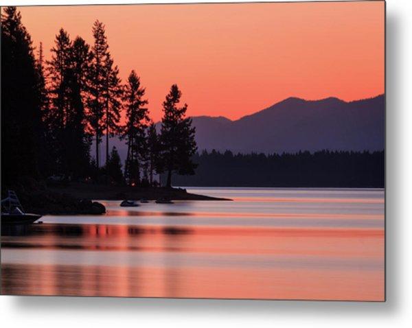 Lake Almanor Twilight Metal Print