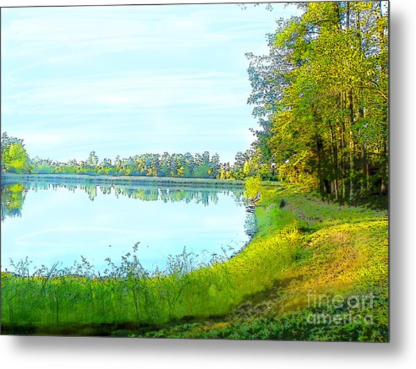 Lake And Woods Metal Print