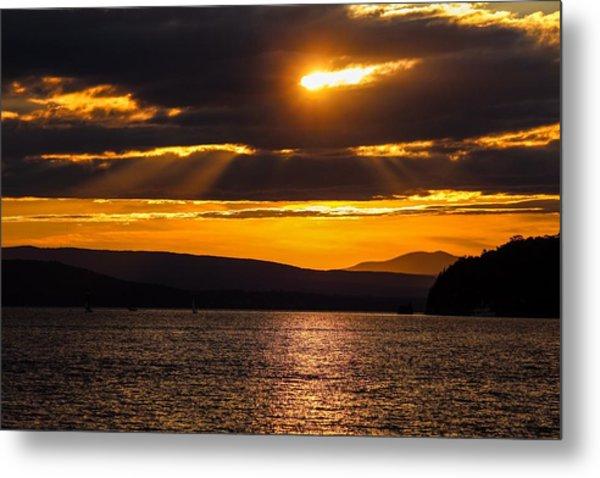 Lake Champlain Sunset Metal Print