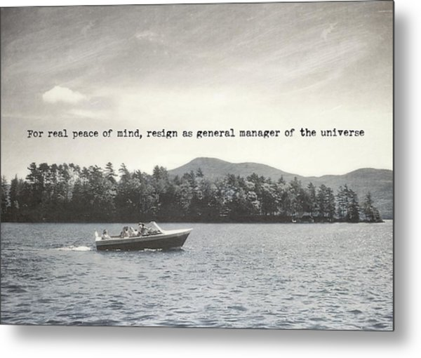 Lake Cruise Quote Metal Print by JAMART Photography