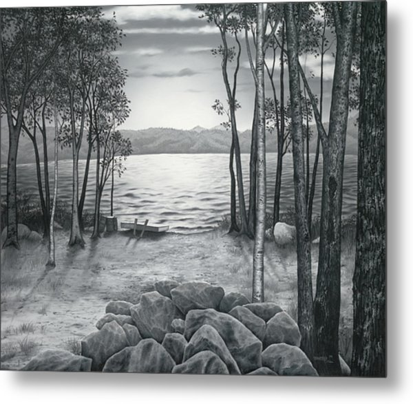 Lake Front Metal Print
