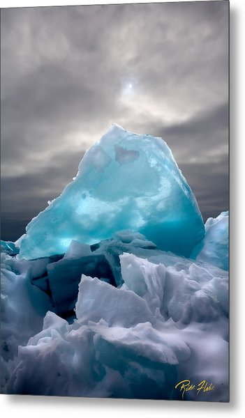 Lake Ice Berg Metal Print
