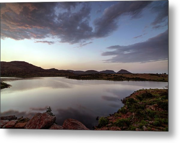 Lake In The Wichita Mountains  Metal Print