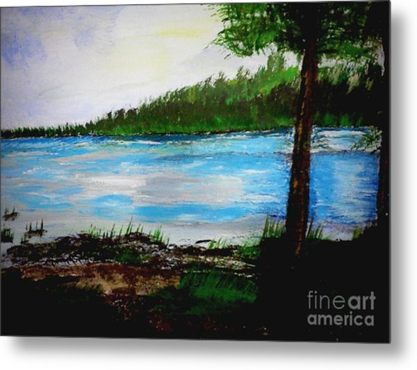 Lake In Virginia The Painting Metal Print