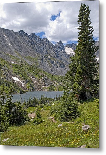Lake Isabelle And Surrounding Mountains Indian Peaks Wilderness Colorado Metal Print