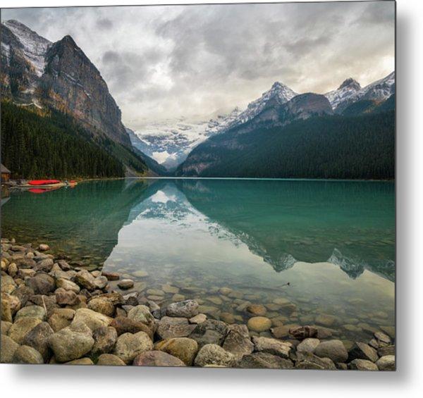 Lake Louise In The Fall Metal Print