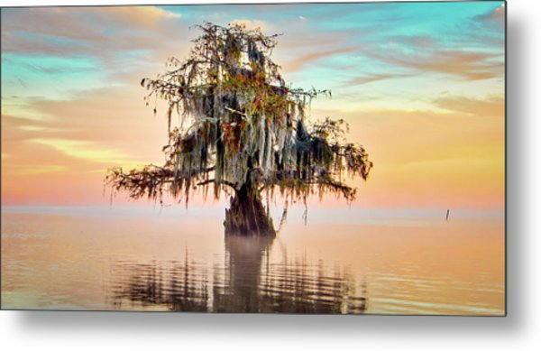 Lake Maurepas In Pastels Metal Print