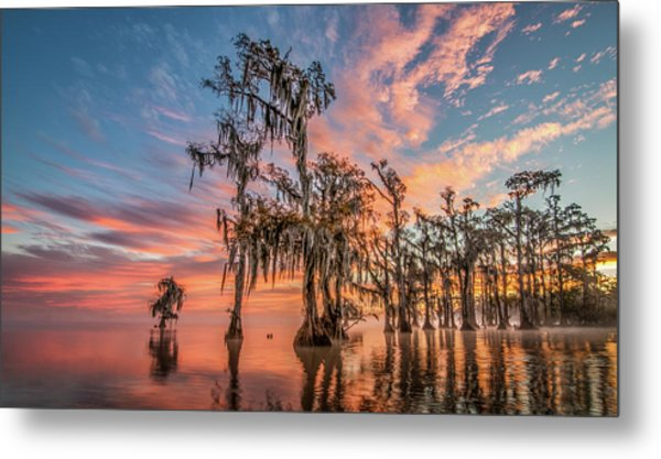Lake Maurepas On Fire Metal Print