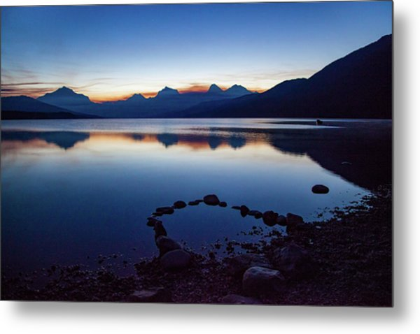 Metal Print featuring the photograph Lake Mcdonald Sunrise Tranquility by Lon Dittrick