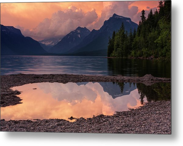 Lake Mcdonald Sunset Metal Print