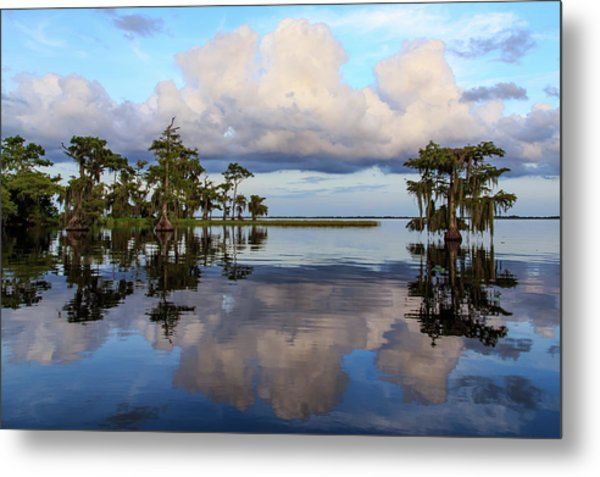 Lake Mirror Metal Print