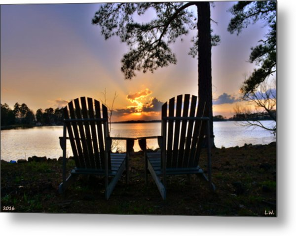 Metal Print featuring the photograph Lake Murray Relaxation by Lisa Wooten
