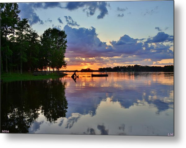 Metal Print featuring the photograph Lake Murray Sc Reflections by Lisa Wooten